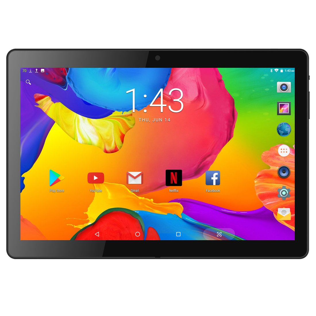 BENEVE 10.1'' Inch Tablet Android 7.0 Quad CORE Super, 2GB RAM + 16GB ROM, 1.3GHz CPU, Dual Camera, Front 2MP+Rear 5MP, Dual 5G WiFi, BT, HD IPS Screen, Play Store, Netflix Installed,Upgraded by BENEVE
