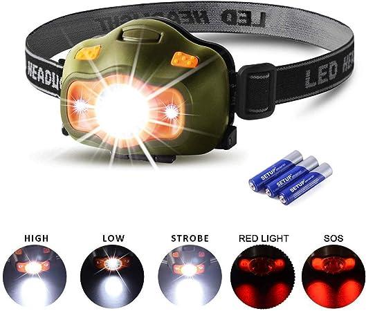 500 lm clair Randonnée et camping headlamp 3 Mode Phare Tête Lampe lumière avec zoom