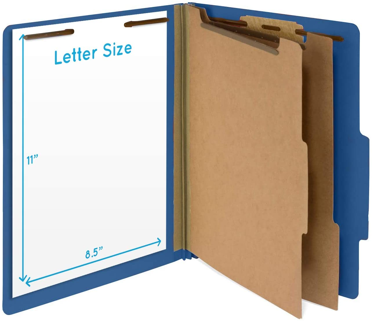 Dark Blue Color 2 Dividers 30 Pack Durable 2 Prongs Blue Summit Supplies 30 Letter Size Dark Blue Classification Folders 2 Inch Tyvek Expansions Letter Size
