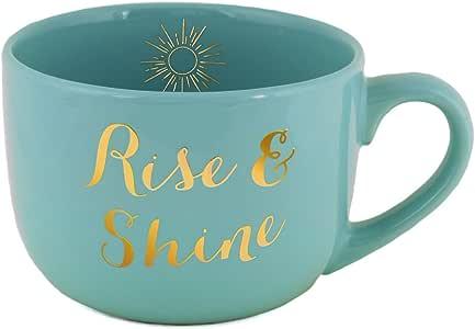 "Amazon.com: Eccolo World Traveler""Rise & Shine"" Ceramic Coffee or Soup Mug: Kitchen & Dining"