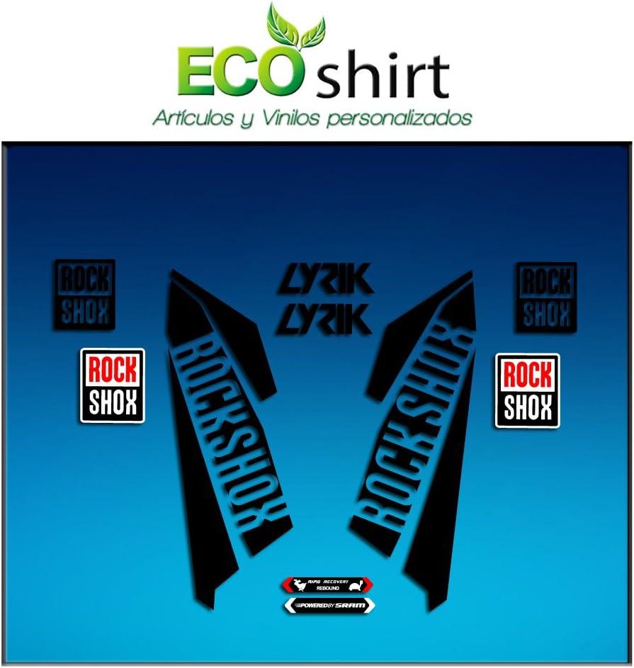 Black 26 and 27.5 Ecoshirt 7S-ABAV-JVHF Fork Stickers Rockshox Lyrik 2016 Am40 Stickers Aufkleber Decals Adesivi Bike BTT MTB Cycle