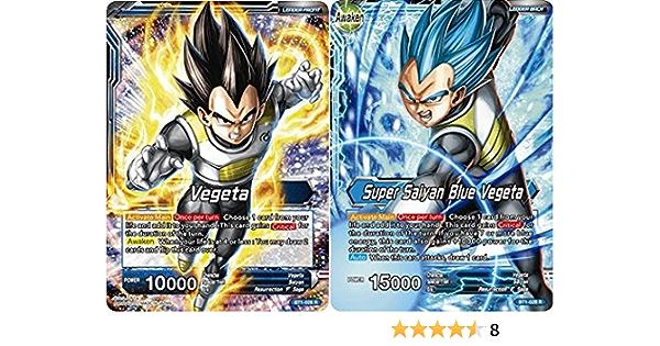 Card Dragon Ball Super Card Game Vegeta Super Saiyan Blue BT1-028 R Dbz Fr New