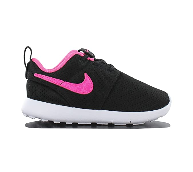 df874fe54db1c Amazon.com | Nike Roshe One TDV Infant/Toddlers Slip-on ~ Black/White/Pink  Blast (9) | Shoes