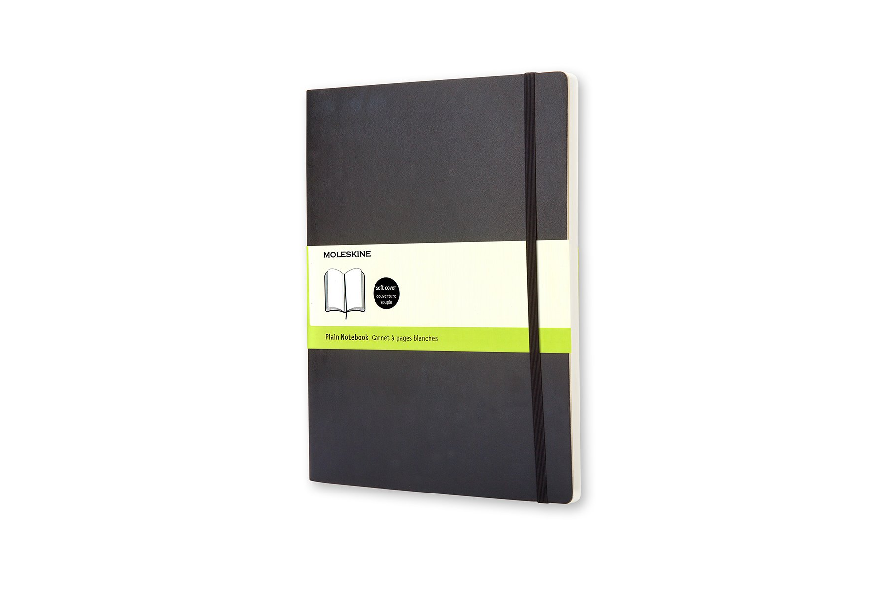 Moleskine Classic Soft Cover Notebook, Plain, XL (7.5 x...