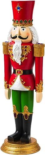 Evergreen Garden Regal Christmas Nutcracker Outdoor Safe Garden Statue 55 Inche