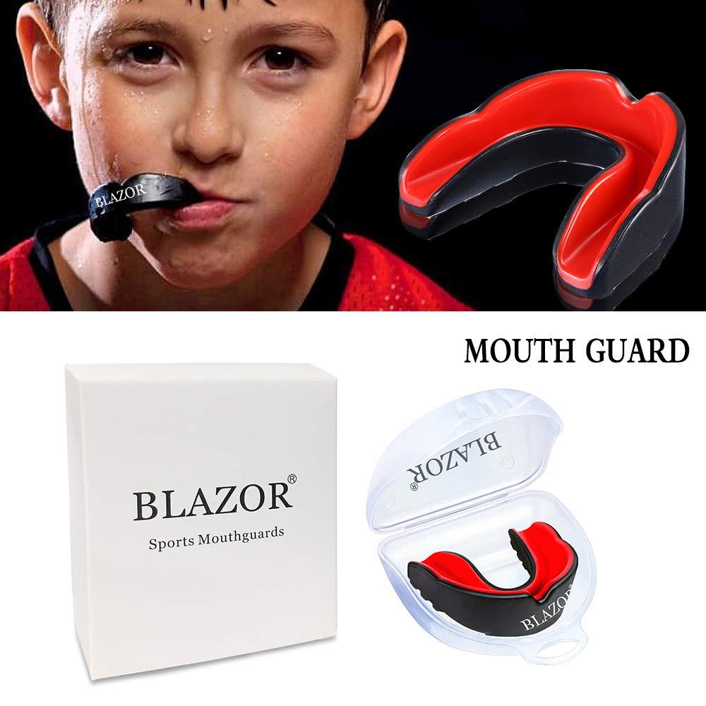 Equipo de Boxeo Beast Gear para el hogar. MMA y Otros Deportes de Contacto FENRIR Protector bucal para Boxeo Judo Protector de Goma para Adultos y ni/ños para Hockey Rugby