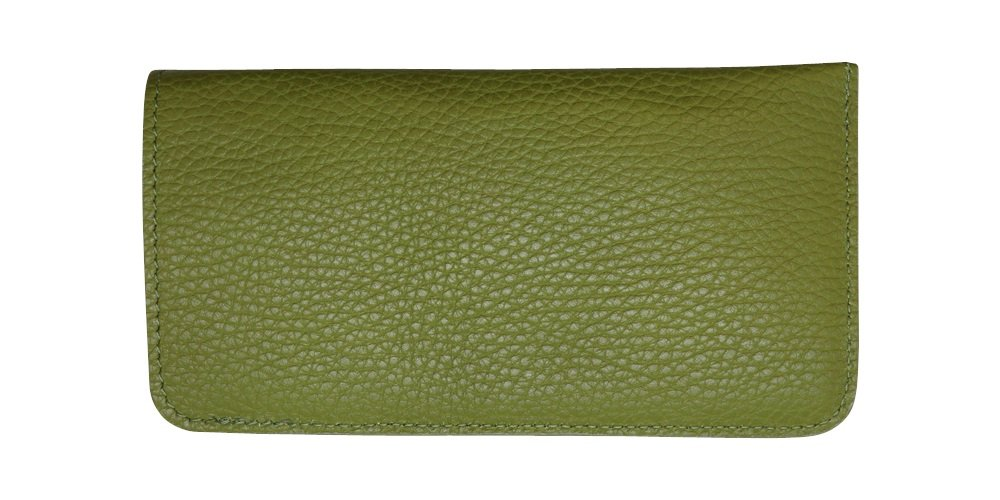 Linden Green Genuine Leather Eyeglass Case Soft - Padded Suede Interior - Made in USA by Real Leather Creations FBA626 by Real Leather Creations