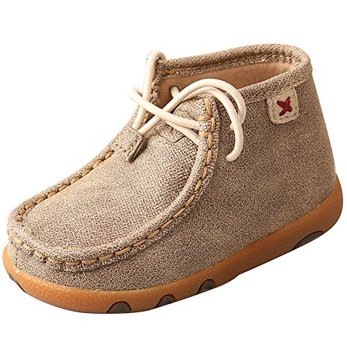(Twisted X Boots Boys Dusty Infant Lace up Moc 7-M Tan)