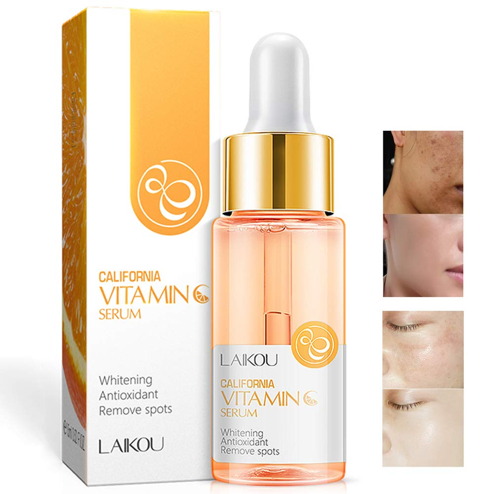 Vitamin C Serum with Hyaluronic Acid Natural & Organic Anti Wrinkle Reduce Formula for Face Skin Brightening & Whitening Remove Spots Essence