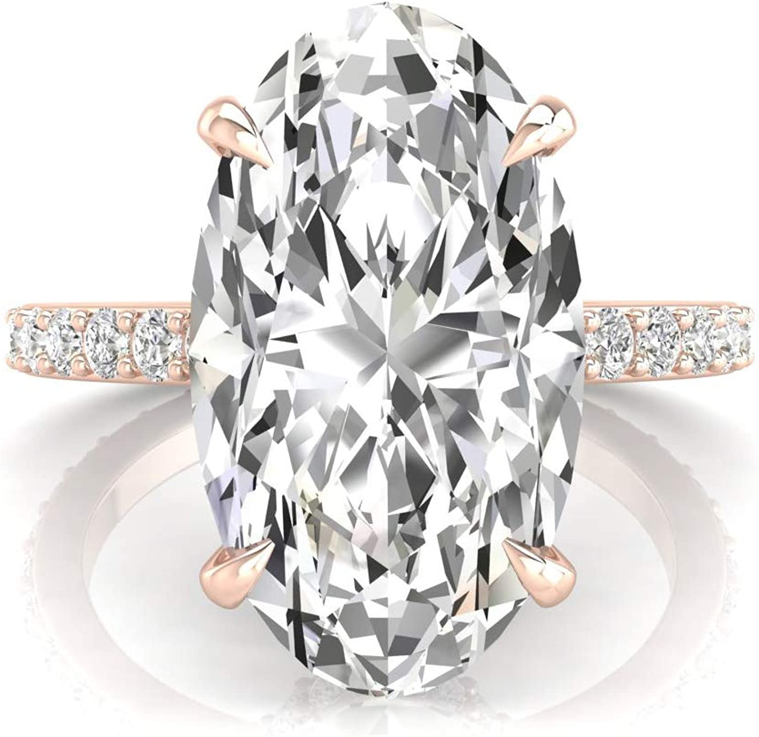 1.98 TCW Round Cut Solid 14K White Gold Gift For Her Three-Stone Christmas Sale Colorless Moissanite Gorgeous Engagement Ring