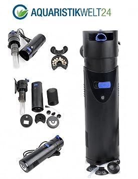Filtro interno para acuario CUP-807, clarificador UVC de 7 W, 700 litros/hora hasta 500 litros: Amazon.es: Productos para mascotas