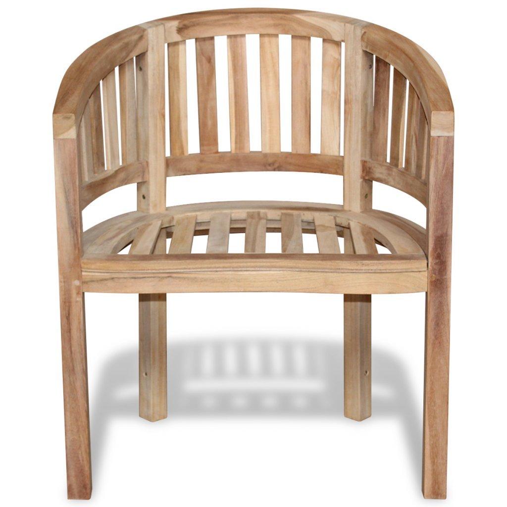 Festnight 1 STK. Holz Gartenstuhl Teakholz Bananenstuhl Bananenförmiger Holzstuhl 68 x 52 x 86 cm für Garten oder Terrasse