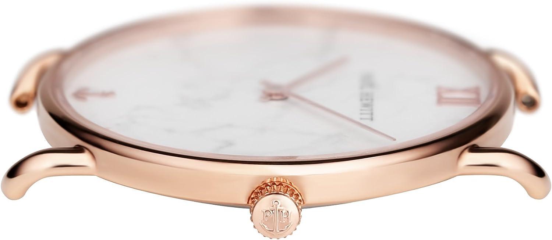 Paul Hewitt Montre-Bracelet pour Femme Miss Ocean Marble - Montre pour Femme (Or Rose), Cadran en marbre Or Rosé | Alcantara | Grau