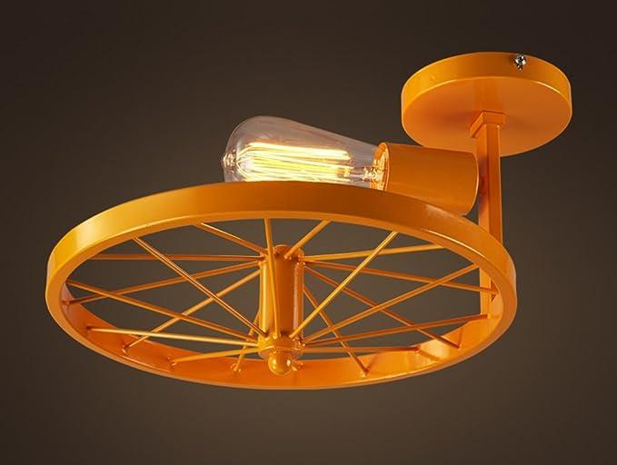 Plafoniere Industriali Diametro 30 : Home mall plafoniera in ferro ruota forma soggiorno ristorante bar