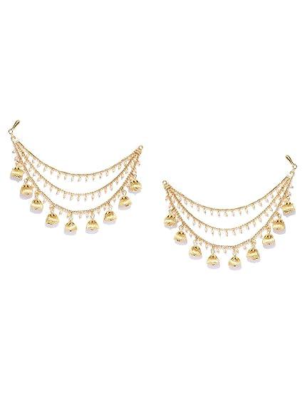 adca51068ac96 Amazon.com: Indian Bollywood Gold Plated With Pearl Light Sahara ...