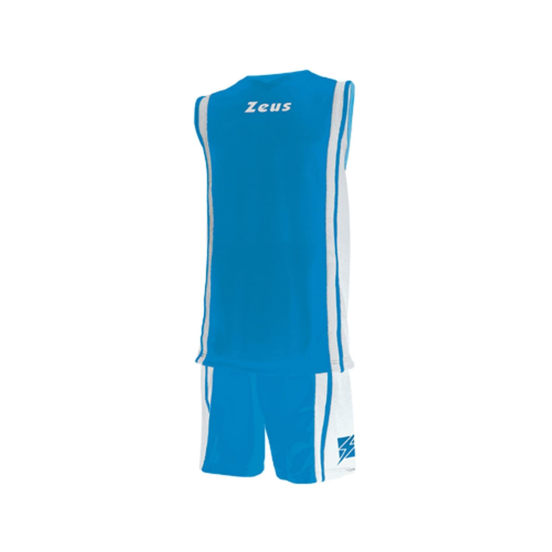 ZEUS KIT BOZO BASKETBALL SHIRT/& SHORTS 100/% POLYESTER ROYAL//WHITE