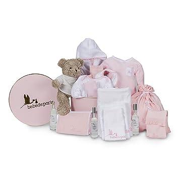 ed46b56c8bb18 Coffret cadeau bébé en boîte de BebeDeParis-rose- ligne Vintage Spa de Rêve  pour