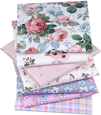 NEW 7pcs BUNDLE baby blue COTTON FABRIC//MATERIAL FLOWERS Crafts quilting sewing