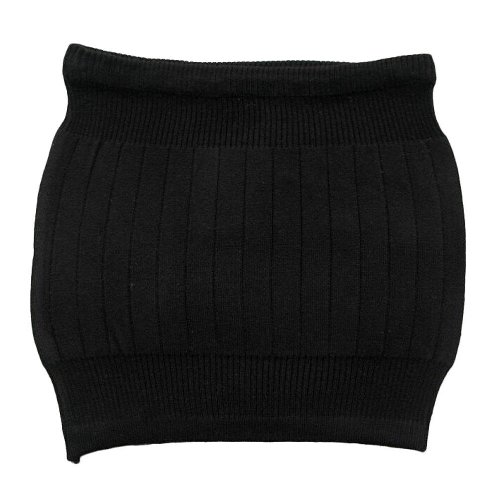 zona lumbar y espalda negro negro /Calentador para vientre Faja calientarri/ñones el/ástica unisex para invierno en cachemir HugeStore/