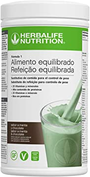 Batido Fórmula 1 550g - (Menta y Chocolate) | Herbalife: Amazon.es ...