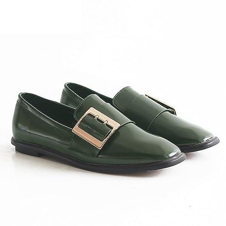 8c94a449b LIANGJUN Tacones Bajos Zapatos De Mujer Plano Primavera Botines
