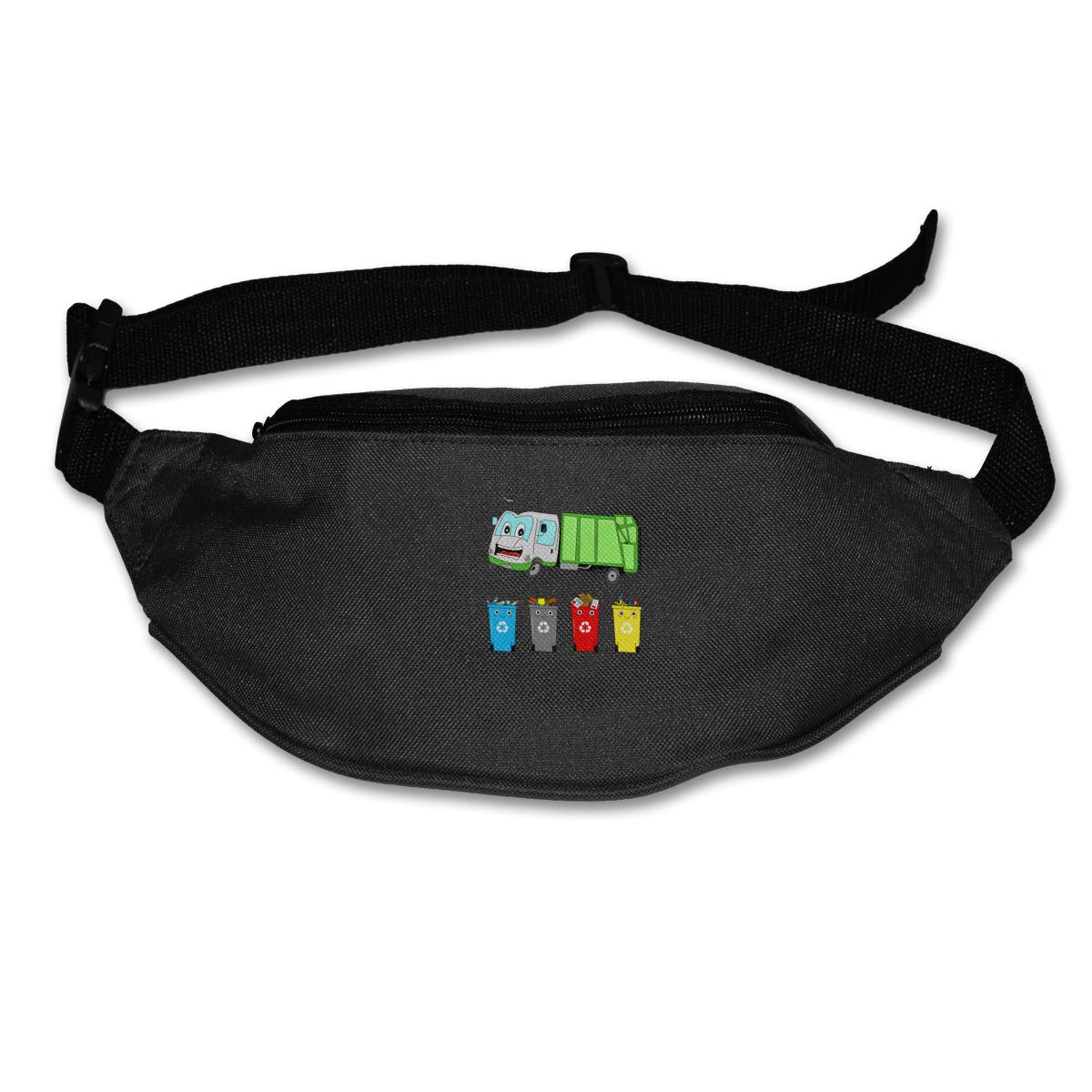 Cartoon Garbage Truck Sport Waist Packs Fanny Pack Adjustable For Travel