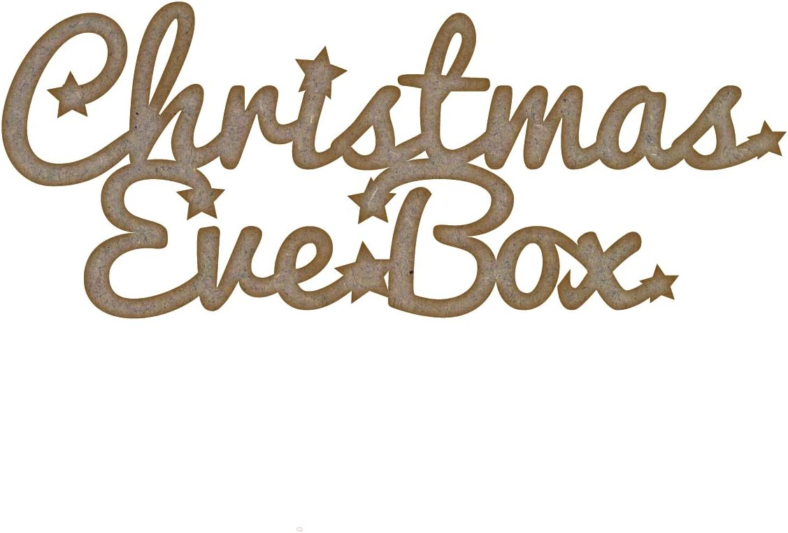 Personalised Christmas eve box topper Wooden MDF crafts xmas gift tree shape