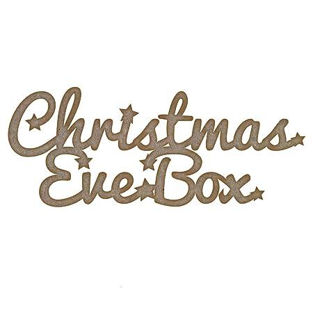 Laser Cut Mdf Craft Blank Christmas Eve Box Medium 150mm X 61mm