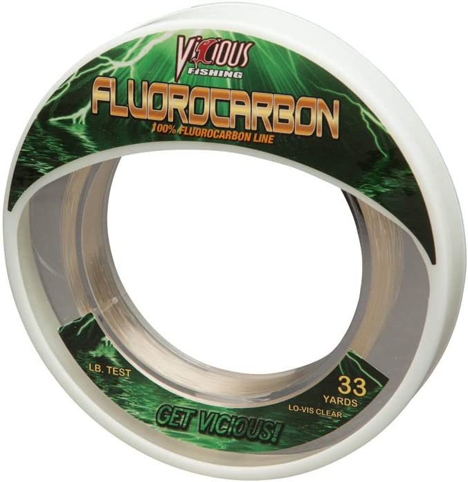 Vicious Fishing EFLWS130 Fluorocarbon Leader Clear 130 lb. Test 33 Yards