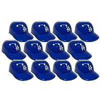 MLB Mini Batting Helmet Ice Cream Sundae/ Snack Bowls, Dodgers - 12 Pack