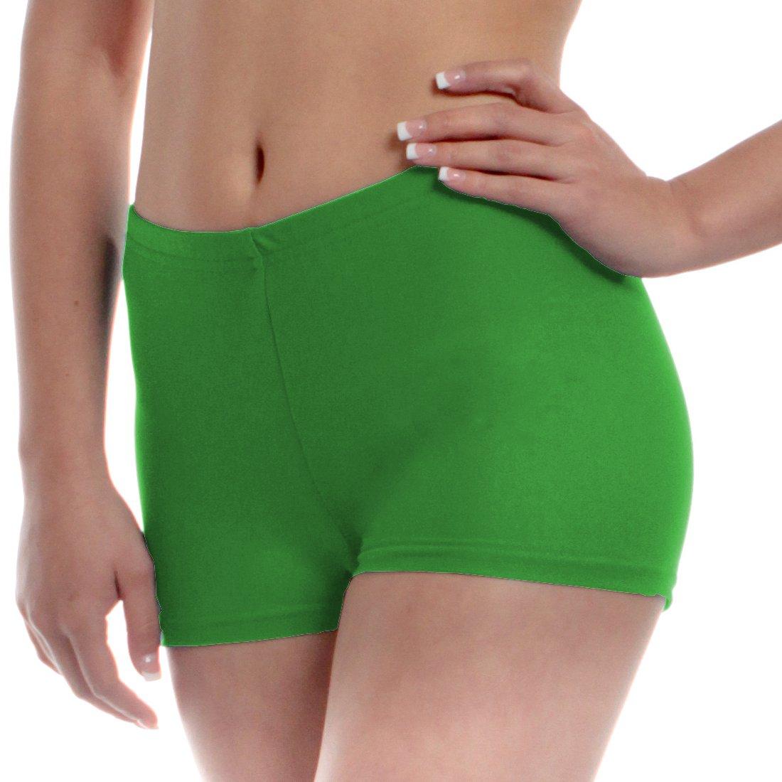 Mens Long Dance Shorts Large Green by B Dancewear Adult Sizes by Bailar Dancewear