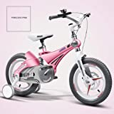 Children's Bicycle Shock Absorber Mountain Bike Boy Road Riding Stroller Balance Car Girl Bicycle Learning (Color : Pink…