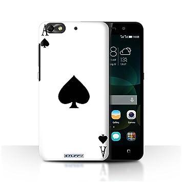 Carcasa/Funda STUFF4 dura para el Huawei G Play Mini / serie: Jugando a las cartas - As de espadas