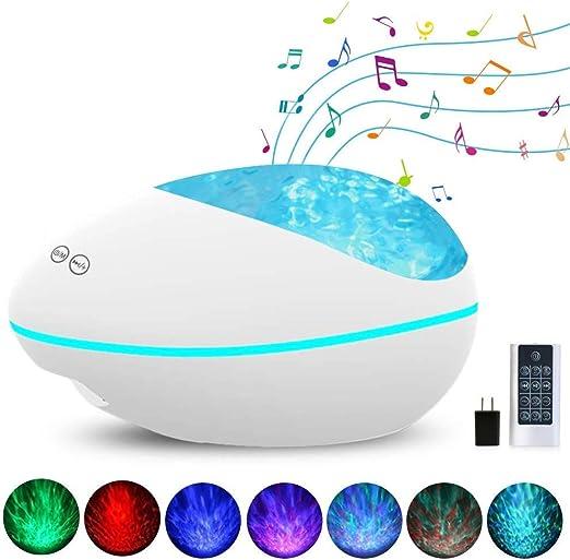 CMXX Lámpara Proyector Océano Ola Bluetooth, Músic Lampara con ...