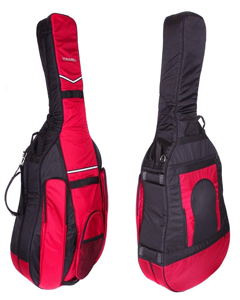 Tonareli Designer Bass Gig Bag BLACK/BURGUNDY 3/4 size BGB34BB BLACK/BURGUNDY BGB34BB