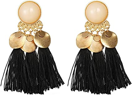 NEW Women Long Crystal Tassel Earrings Ladies Pearl Beaded Ear Stud Jewelry Gift