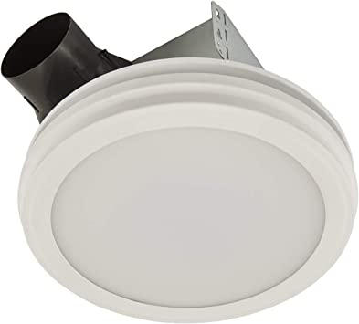Broan Nutone Ar80lwh Bathroom Exhaust Fan With Led Light Round Flat Panel 80 Cfm 2 0 Sones White Amazon Com