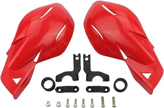 Goofit 7 8 Lenker Handfeger Protektor Handschutz Gruppe Für Motocross Motorrad Pitbike Dirtbike Atv Rot Auto