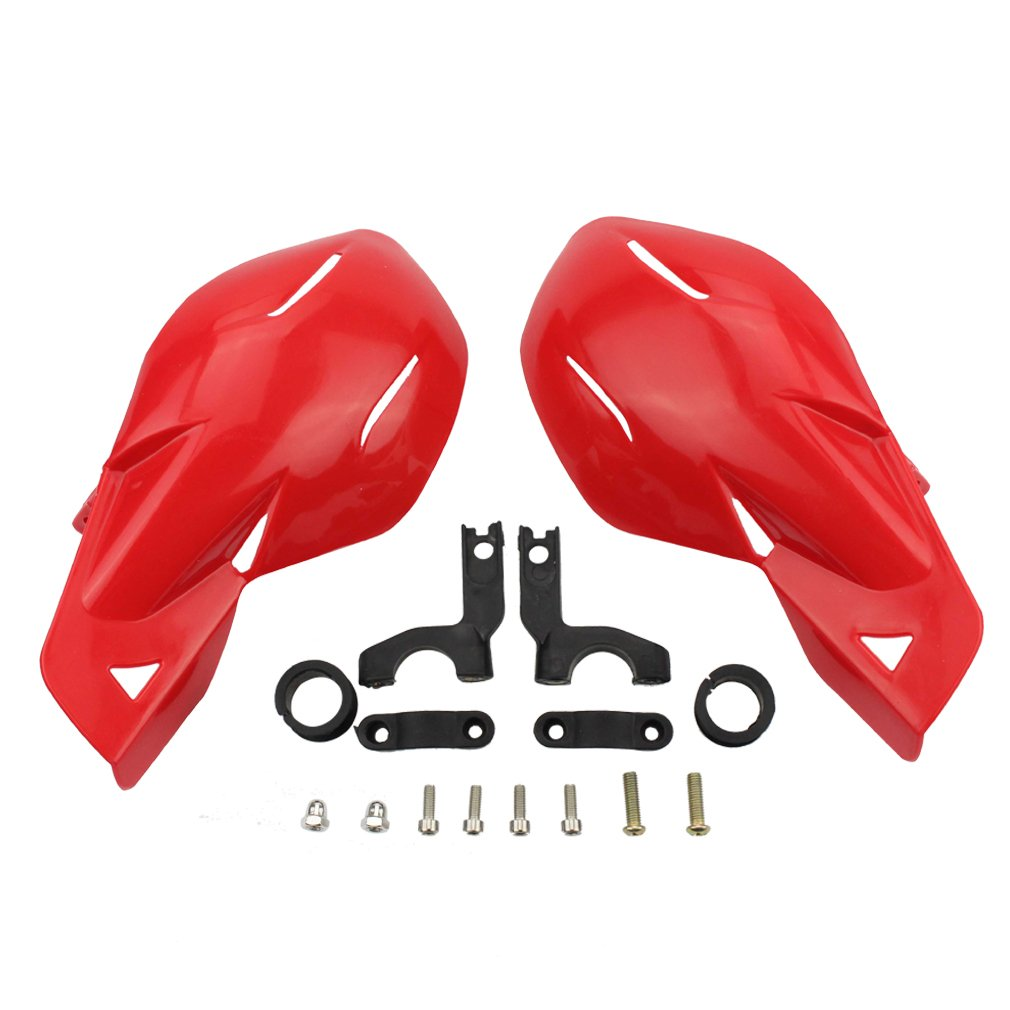 GOOFIT 7/8' Handlebar Hand Brush Guards Protector Handguards Assy For Motocross Motorcycle Off-road Pit Dirt Bike ATV Red E033-709