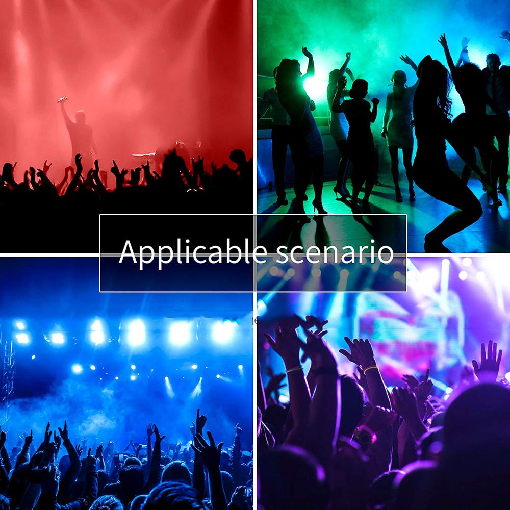 YICIX LED Stage Light/Spot Light 17/38 CH DMX 512 / Master-Slave/Sound-Activated 120W for Party/Stage/Wedding