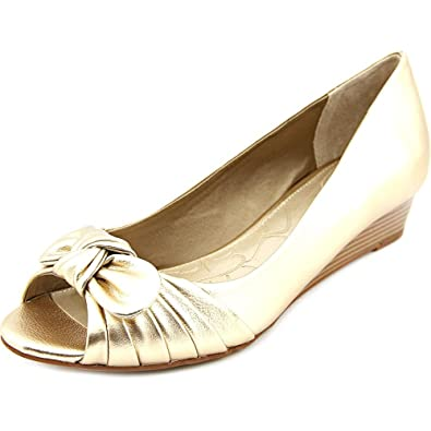 Singa  Giani Bernini Singa  Damens US 9 Gold Peep Toe Wedge Heel db739c