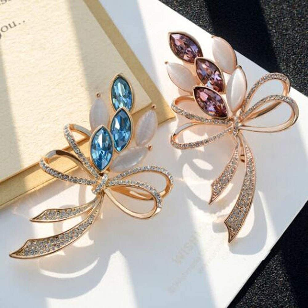 Color : Light Rose Artificial Zircon Brooch Fashion Versatile Jacket Accessories Synthetic Crystal Brooch LKSPD Brooch Ladies Shawl Buckle