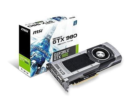 MSI 4GD5 GeForce GTX 980 4GB GDDR5 - Tarjeta gráfica ...