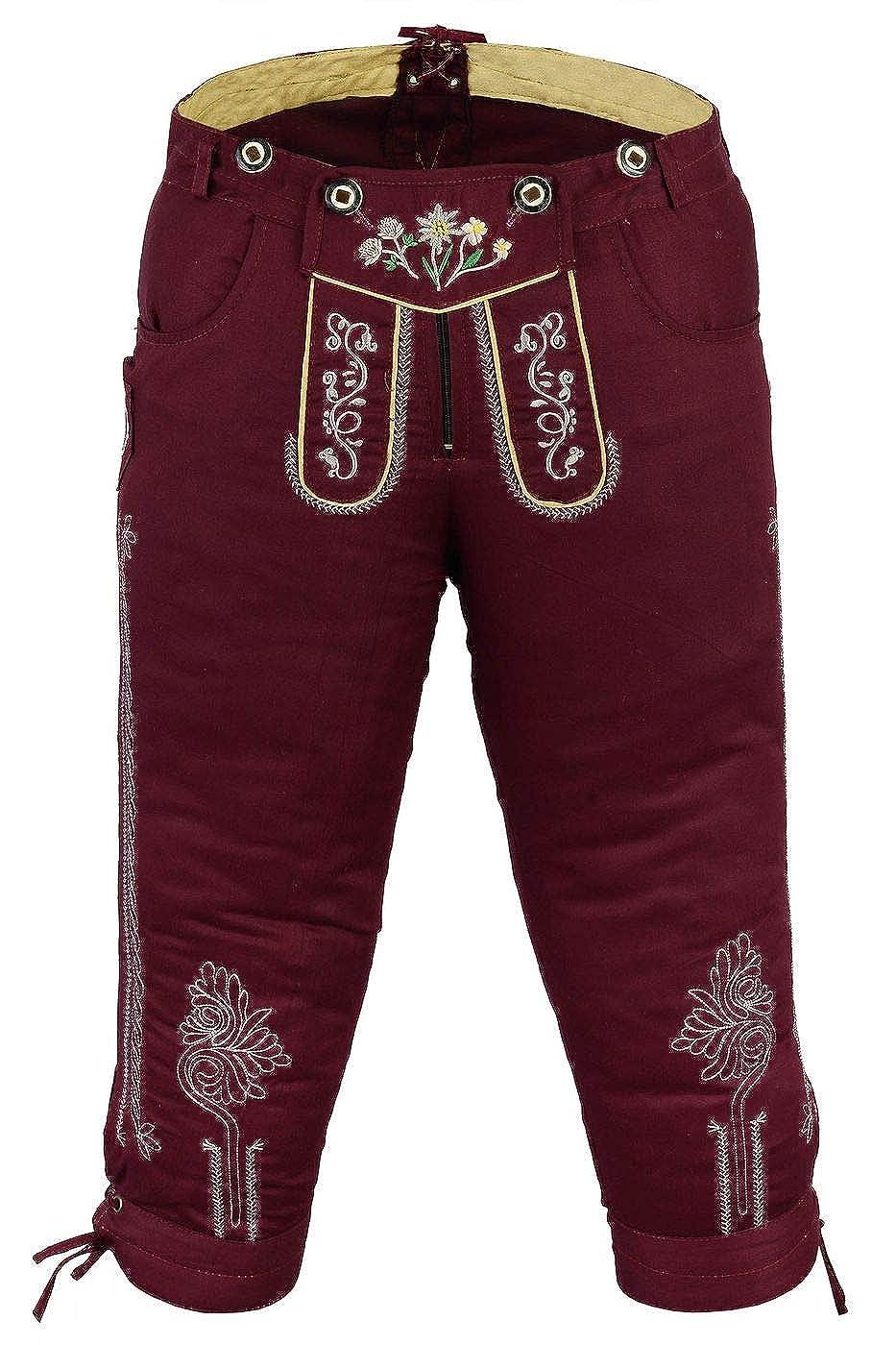 German Wear Damen Trachten Kniebundhose Jeans Hose kostüme mit Hosenträgern in der 4X Farben B00PGG8334 Lederhosen Qualität und Verbraucher an erster Stelle