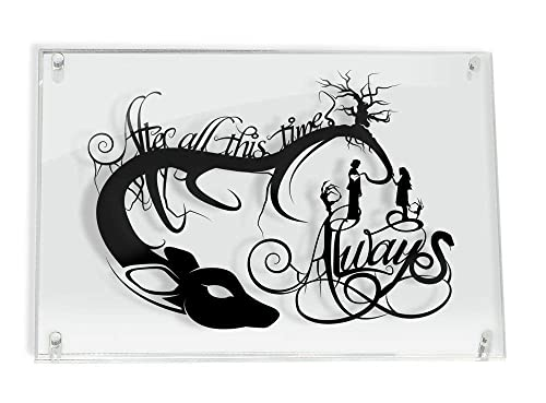 Always Snape and Lily Harry Potter After All This Time – FRAMED hand cut paper art