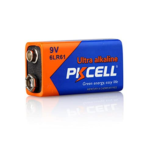 Amazon.com: 4 Pack 9V 6LR61 Alkaline Battery for Smoke Detectors: Home Audio & Theater