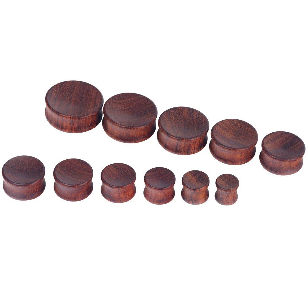 D&M Jewelry 2 Piezas 30mm Dilatador de Madera Cóncava de Color Marrón para los Oídos: Amazon.es: Joyería