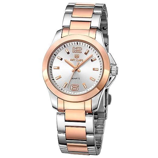 Las mujeres de cuarzo relojes con pulsera de acero ...