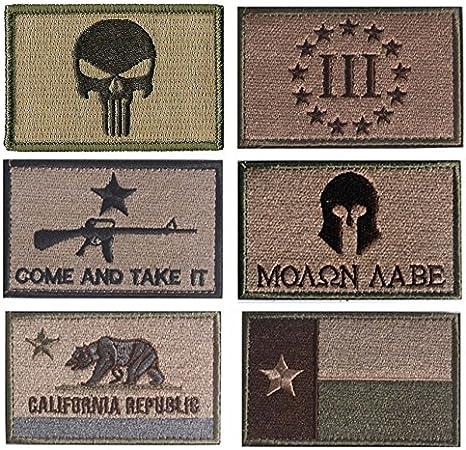 Bandera de Estados Unidos parche de Velcro, Towee 6 Pack American ...