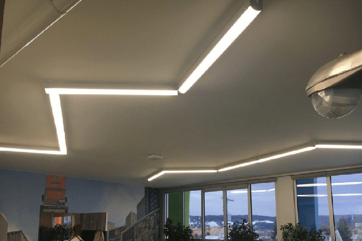 Details about faithsail 8ft led strip lights linkable linear led shop garage lights 72w
